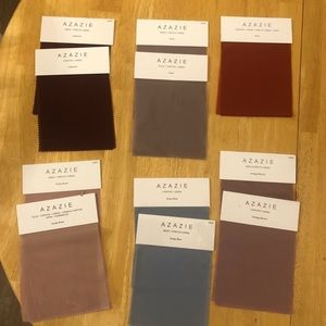 Azazie Bridesmaid Swatches